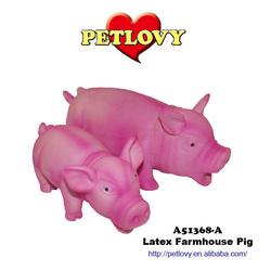 BIG MOUTH FARMHOUSE PIG LATEX TOY DOG TOY