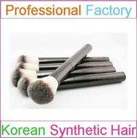 Beautiful Black Silver Pro Foundation Blush Liquid Brush Facial Cosmetics Tools