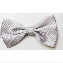 adjustable bow tie ribbon with MENS BOW TIE bowtie solid wedding adjustable pretied CHOOSE COLOR of 2015