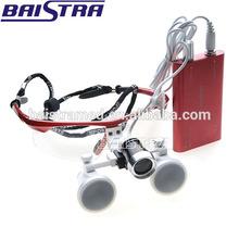 Dental Loupes 3.5X420 Optical Glass with Portable Head LED light Lamp Surgical Binocular loupe kit