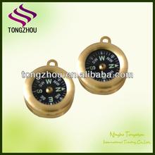 Mini brass pocket compass