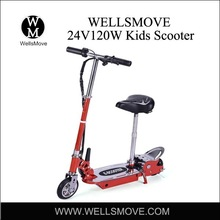 Yongkang factory kids electric scooter with 24v120w motor