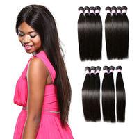 Free Shipping 3 Pcs A Lot 18 20 22 Inch Huge Stock Brazilian Cheap Human Hair