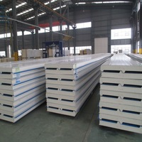 corrugated pu sandwich panel for ceiling and walls