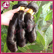 2015 no tangle no shedding new arrival natural color 100% human hair extension fummi curl hair