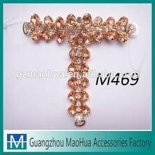 New arrival bling bling acrylic stones sandal decoration M469
