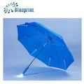 de alta calidad y diseño innovador manual de luz azul paraguas recta de la fábrica