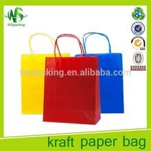Different color kraft paper bag shopping bag with logo