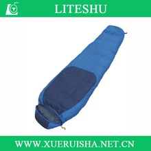 compact warm weather down cheap soft sleeping bag for camping
