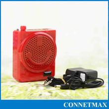 Smiling face USB rechargeable megaphone micophone voice amplifier FM TF Card AUX output