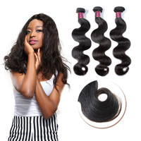 "3 pcs/lot 6a remy human hair weaves 22"" cheap natural virgin Brazilian wavy hair"