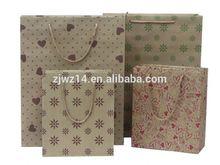wholesale brown paper bags/ brand printed paper bag/ discount brand printed paper bag