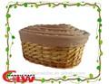 Divisão oval salgueiro e correr cesta, Artesanato, Vazio cesta de armazenamento de vime, Presente de páscoa cesta