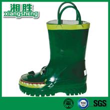 A Crocodile Print Rain Boots Green Girl's Knee