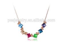 Fashionable promotion 18k gold short necklace