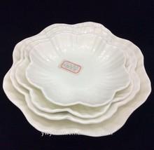 hot sale high quality flower shape white color hotel porcelain plate,daily-us porcelain