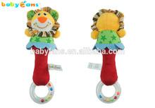 Babyfans Animal Cartoon Plush Of Handcraft Cheap Baby Rattle Hand Bell Toy
