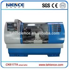 Alloy wheel diamond cutting wheel lathes cnc machine with digitising Probe CK6177A