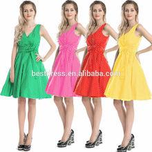 Bestdress cheap pin up vintage retro swing 4 color stock rockabilly dress boutique