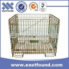 Euro Industrial Wire Cage Foldable Metal Storage Folding Bin For Sale