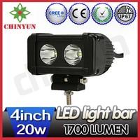 Super bright motorcycle led mini lightbar cree, auto led light bar, 20w offroad led driving light bar