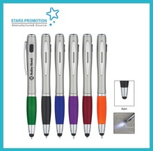 promotional click gift ballpoint pen;LED light pen; ballpoinet pen with logo