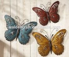 Nature Inspired Metal Butterfly Wall Art Trio Wall Hanging Garden Art