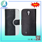 Newest fancy custom leather flip case back cover for samsung galaxy s4 mini