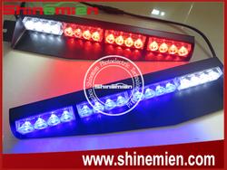 Car Truck Emergency Beacon Light Bar Strobe Warning 2x 16 LED Visor Warning Lights