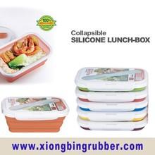 FDA & LFGB standard silicone rectangle lunch box