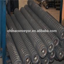 conveyor rubber roller,conveyor rubber coated conveyor roller,conveyor impact roller with rubber coating