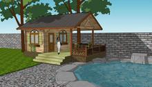Customed garden wooden house / tool storing cabin wood log house for sale