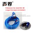 azul fuente de la fábrica al por mayor rca cable del coche
