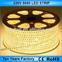 Hot sale SMD 5050 60LED/M flexible led strip lights 220v