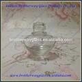 blanco de alta mini en forma de corazón de cristal para la botella de esmalte de uñas alumite con tapa