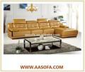 Sofá de canto chaise, laranja sofá secional de couro preço de móveis