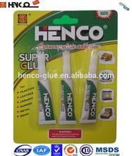 HC-3 Henco Daily DIY use Super Glue, 502 Super Fast Glue, Cyanoacrylate Adhesive in Tube Packing