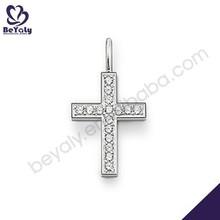Innovate design girls cz inlaid cross charm pendant