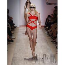 2015 New Sexy Bandage dress Bikini Monokini Beachwear bikini swimwear Orange Color