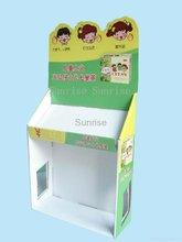 Popular indicação do contador de papelão, Exposição pop papelão, Papelão display case com customrized