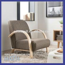 New design birch wood modern high quality single sofa