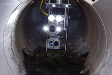 Zoom sewer inspection camera
