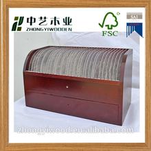 2015 factory price custom logo handmade wooden CD/ DVD box