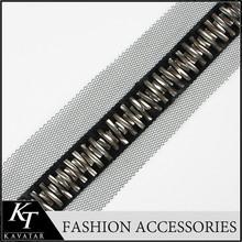 Beaded Plastic Organza Organza Lace Trim for Latest Net Dress Designs