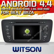 Witson android 4.4 auto-dvd für sitz Ibiza 2013 mit chipsatz 1080p 8g rom wifi 3g-internet dvr unterstützung