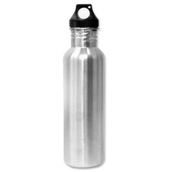 Eco-Friendly Wide Mouth 25oz, 750mL Stainless Steel Sports Water Bottle - BPA Free