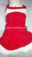 100% Fall/Winter Red Dog Chirstmas Dress Dog Christmas Coat