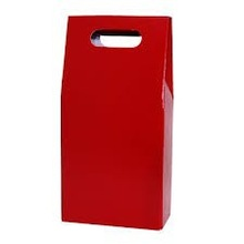 Fancy 2 bottle red wine gift paper carry bag