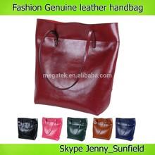 high quality custom handbag 2015 Fashion vintage cowhide genuine leather bag woman handbag tote
