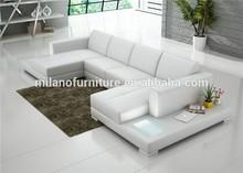 High quality modern hot sale small corner leather sofa